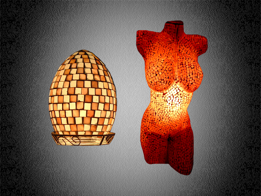 Mosaikleuchten Mosaik Lampen fairy lights lamps candle lights